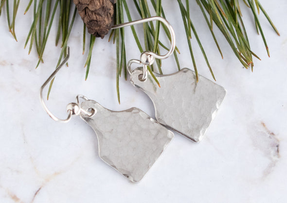 Tiny Cow Ear Tag Earrings