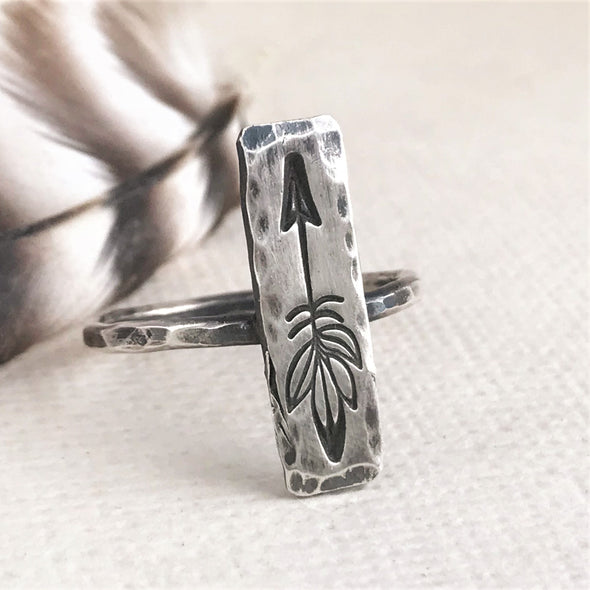 Know Your Way Arrow Ring