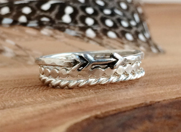 Delicate Arrow Stacking Ring