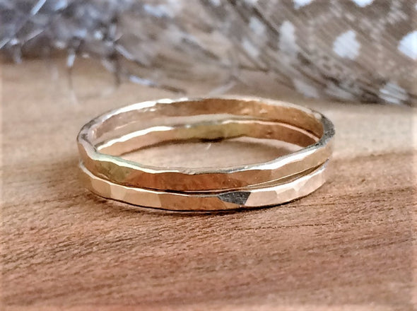 Super Slim Gold Stacking Ring