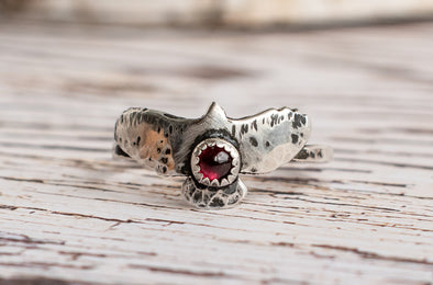 Tiny Bird Ring With Gemstones