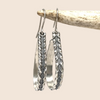 Silver Hoop Earrings Twisted Channel Design