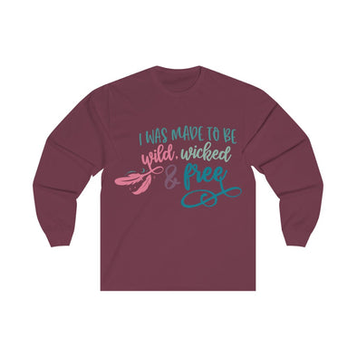 Made To Be Wild, Wicked, Free Women's Long Sleeve V-neck Tee