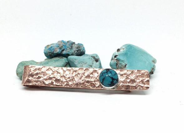 Copper Turquoise Tie Bar