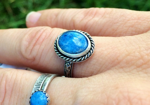 Denim Lapis Ring for Women