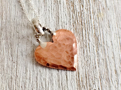 Tiny Copper Heart Necklace