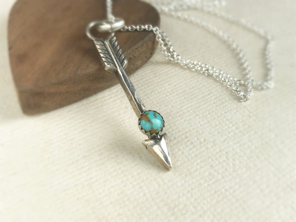 handmade arrow necklace