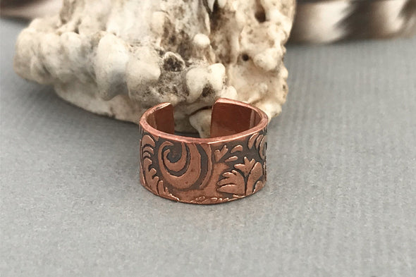 Copper Ear cuff Leather look