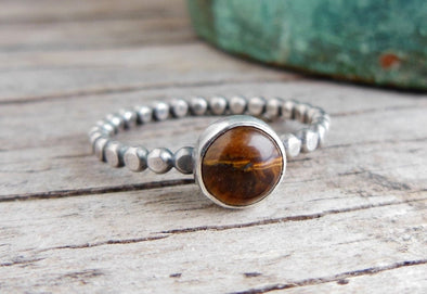 Tiger Eye Stacking Ring