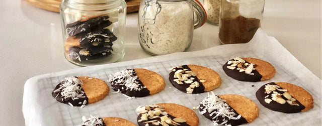 Almond and coconut biscuits