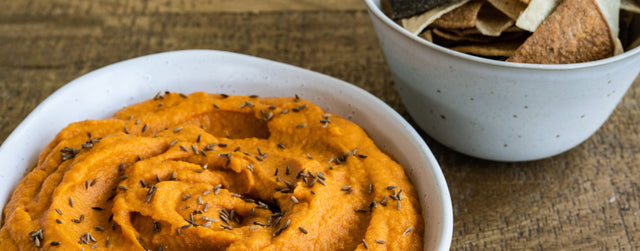 Carrot and pomegranate molasses dip