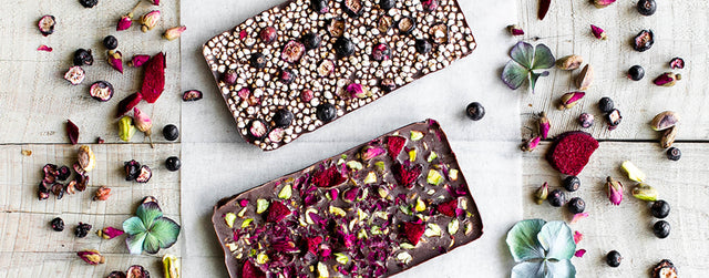 Festive cacao butter chocolate bark recipes