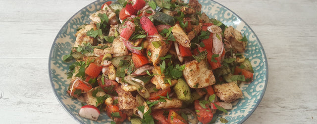 Fresh fattoush salad