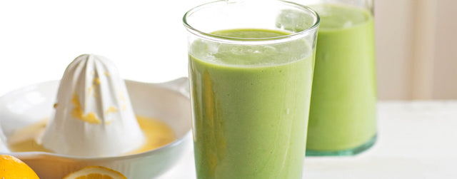 Green apple and avocado smoothie