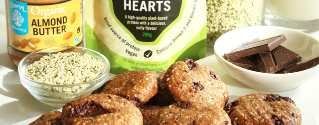 Almond butter and hemp heart cookies