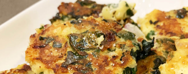Potato cakes with wakame