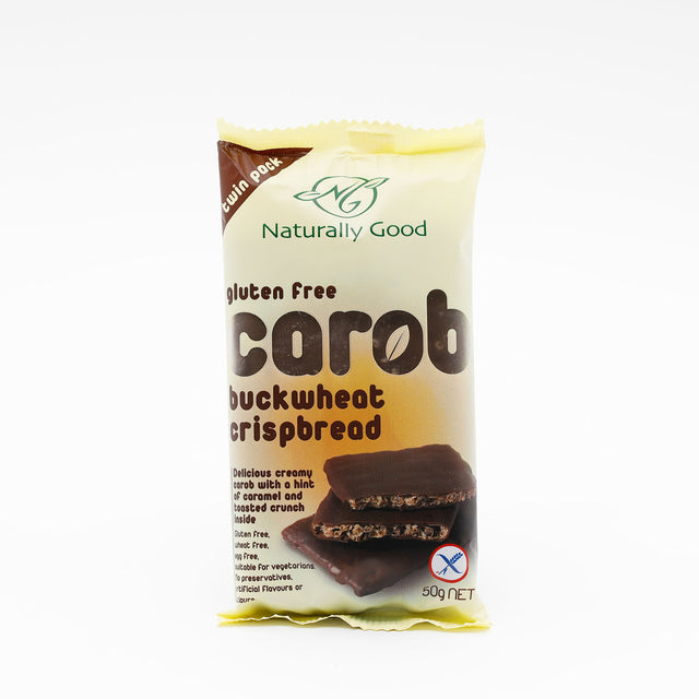 Naturally Good Carob Buckwheat Crispbread
