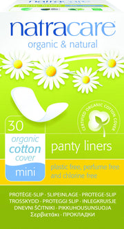 Natracare Organic Panty Liners Mini 30 pack