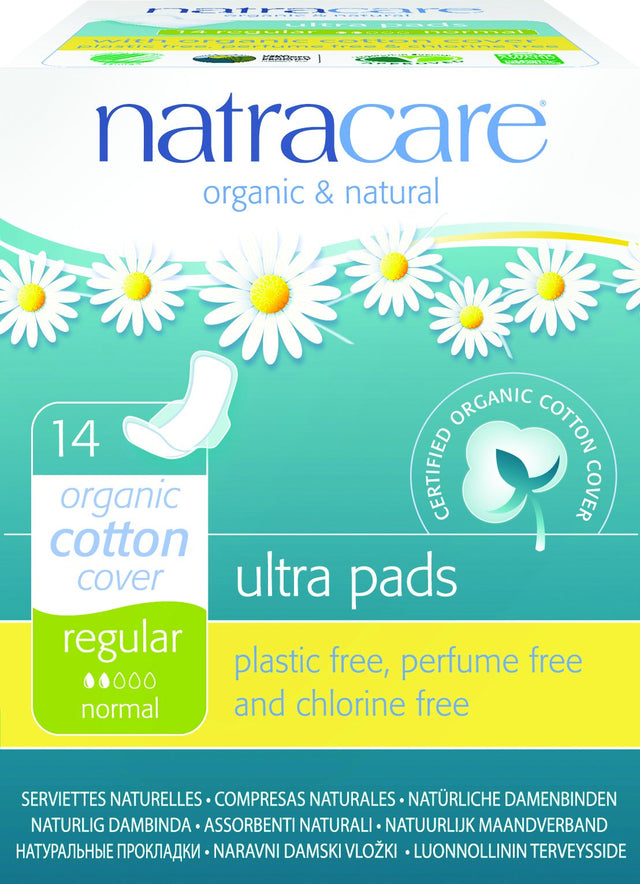 Natracare Organic Ultra Pads with Wings 14 pack