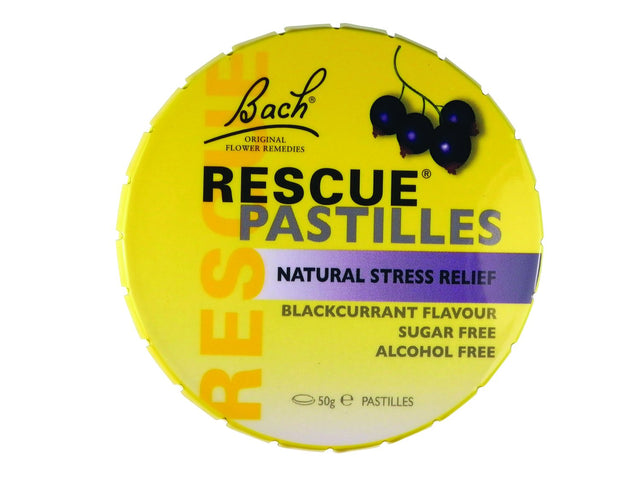 Bach Flowers Rescue Remedy Pastilles Blackcurrant