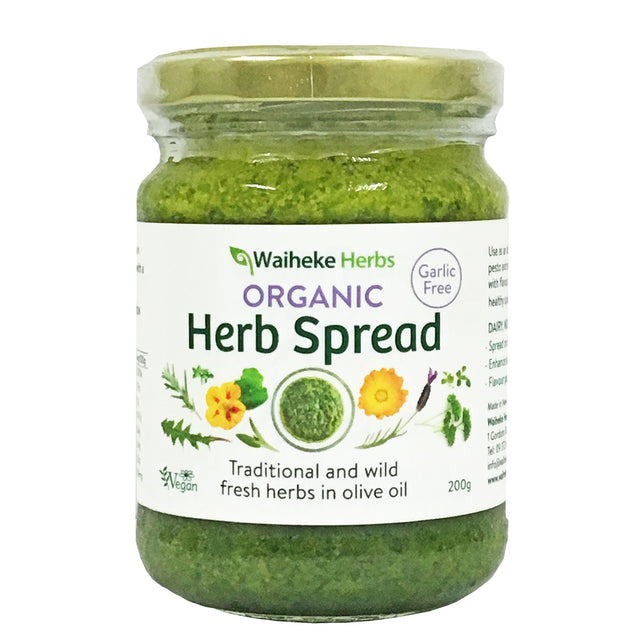 Waiheke Herbs Organic Herb Spread No-Garlic