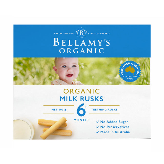 Bellamy's Organic Milk Rusks 12 Pack