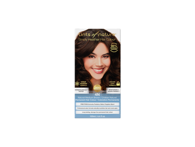 Tints of Nature 4N Natural Medium Brown Permenant Hair Colour