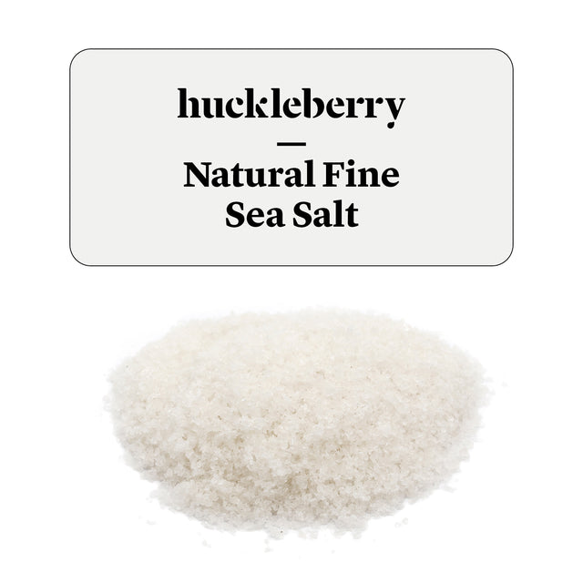 Huckleberry Natural Fine Sea Salt Prepacked