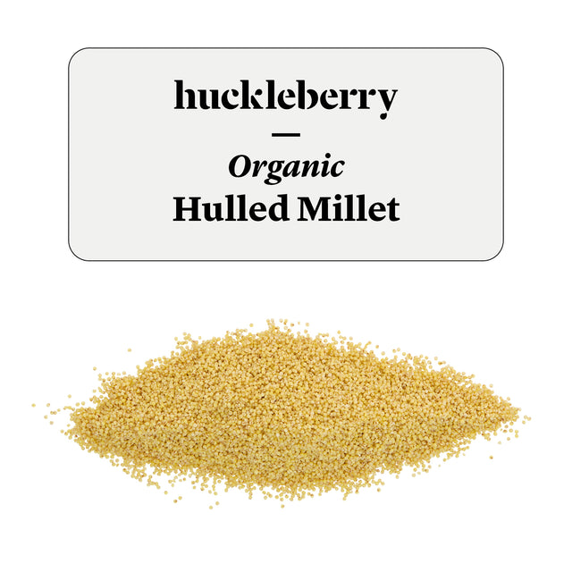 Huckleberry Organic Hulled Millet Prepacked
