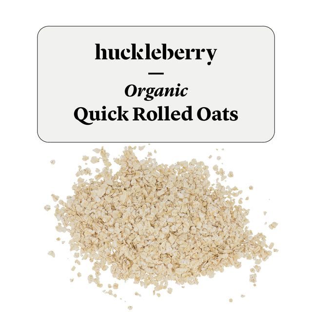 Huckleberry Organic Quick Rolled Oats Prepacked