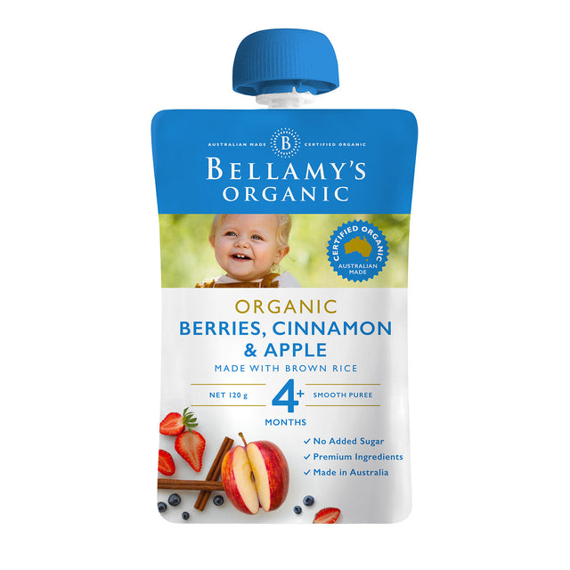 Bellamy's Organic Berries, Cinnamon and Apple