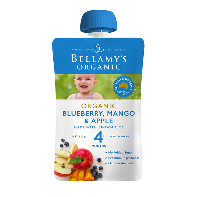Bellamy's Organic Blueberry, Mango and Apple