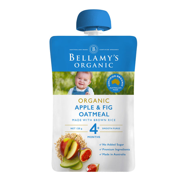 Bellamy's Organic Apple and Fig Oatmeal