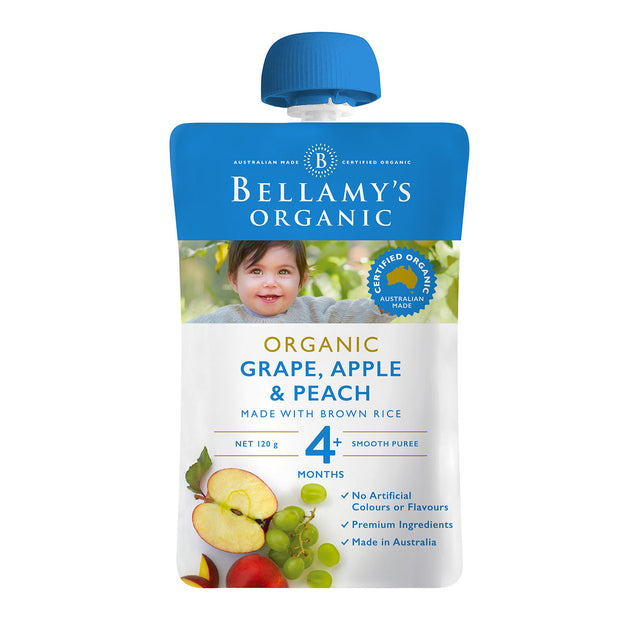 Bellamy's Organic Grape, Peach and Apple