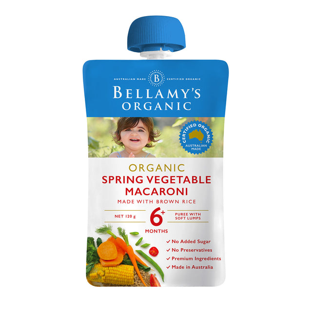 Bellamy's Organic Spring Vegetable Macaroni