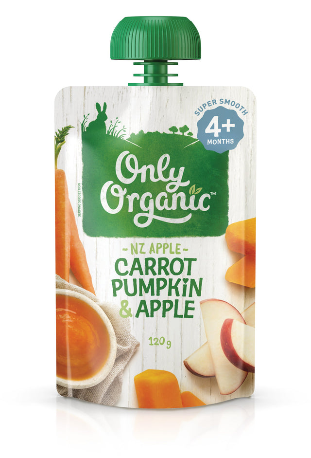 Only Organic Carrot Pumpkin & Apple