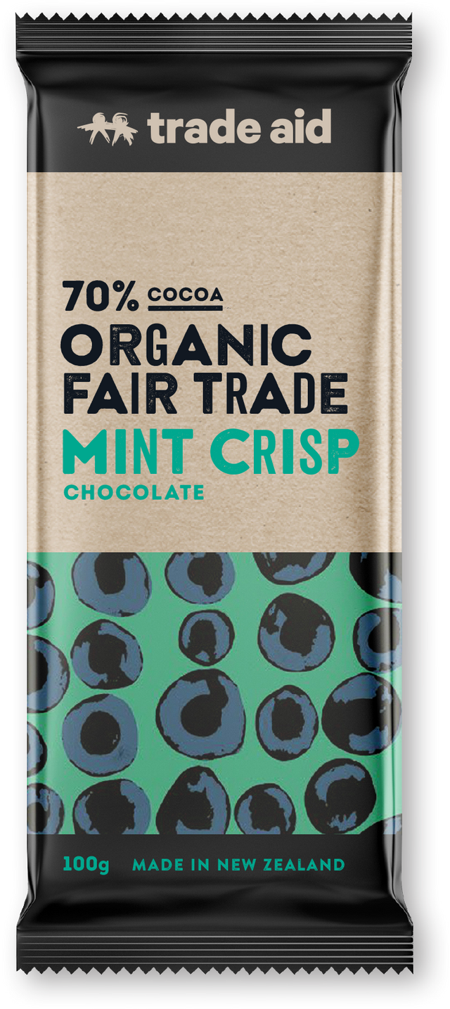 Trade Aid 70% Mint Crisp Chocolate