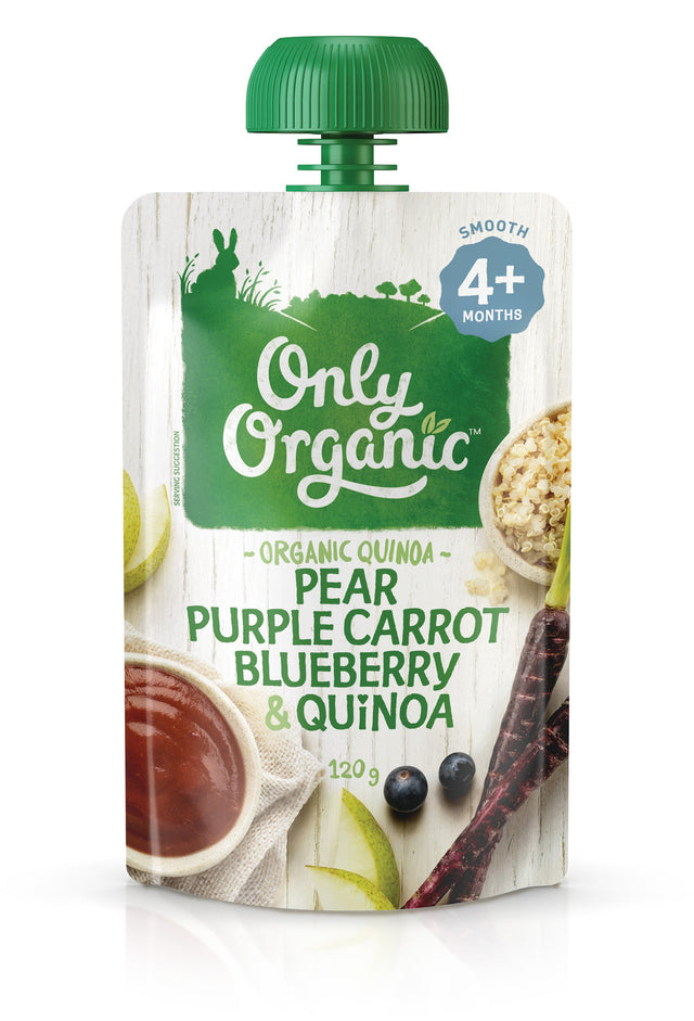 Only Organic Pear Purple Carrot Blueberry & Quinoa