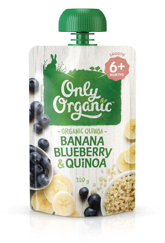Only Organic Banana Blueberry & Quinoa