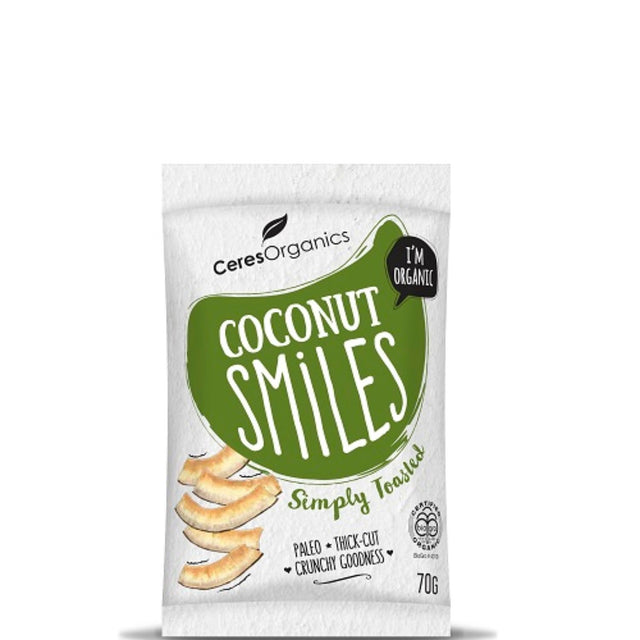 Ceres Organics Toasted Coconut Smiles