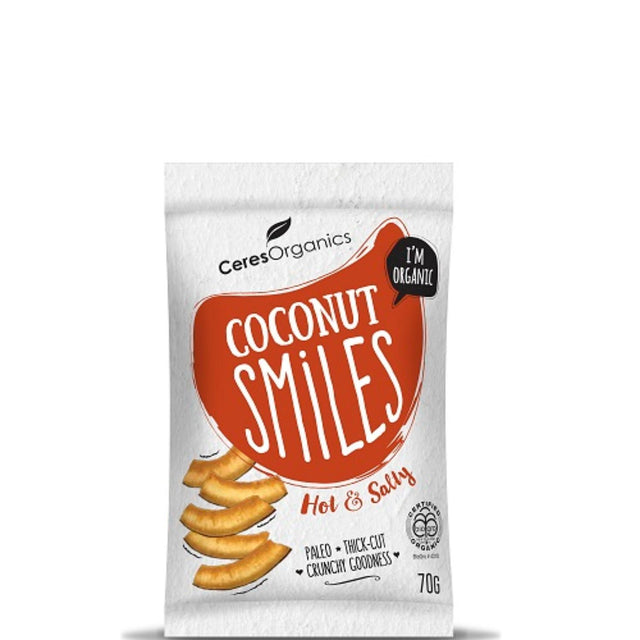 Ceres Organics Hot & Salty Coconut Smiles