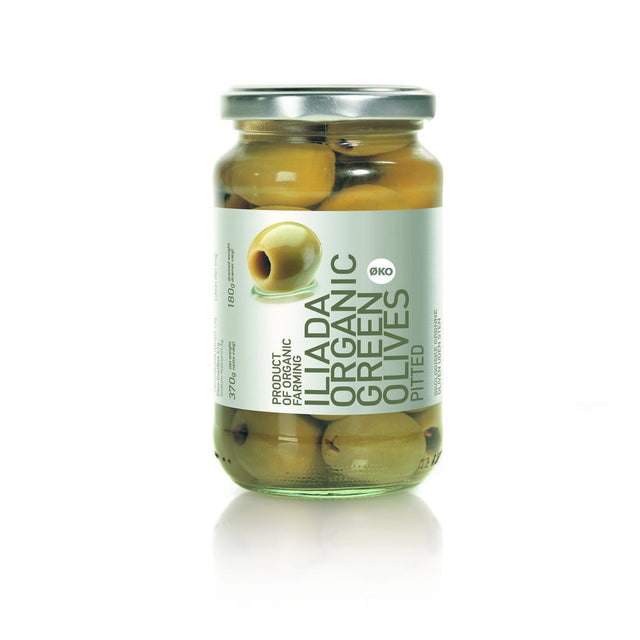 Iliada Organic Pitted Green Olives