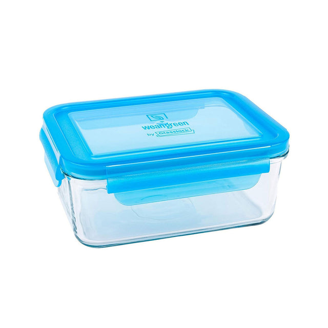 Wean Green Glass Lunchbox Blue