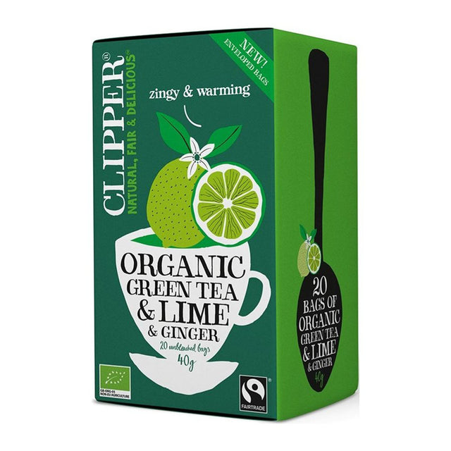 Clipper Organic Green Tea, Lime & Ginger Tea