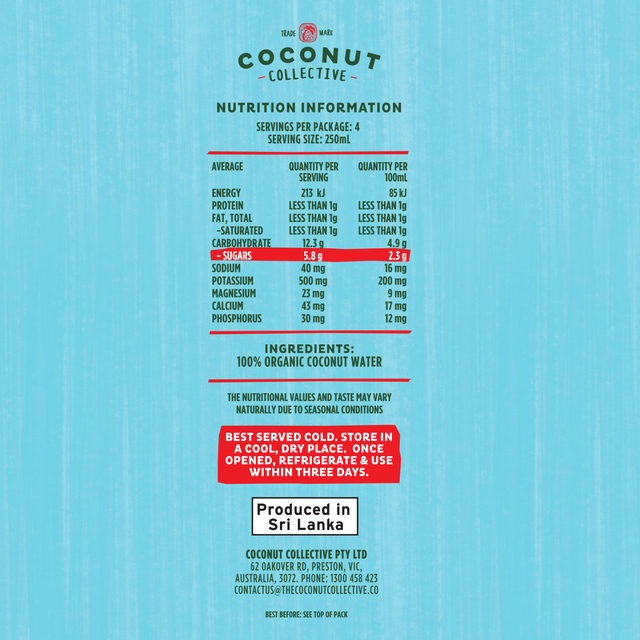 The Coconut Collective Organic Coconut Water