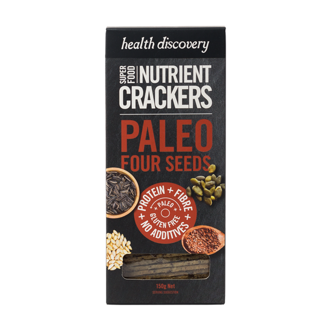 Health Discovery 4 Seeds Paleo Crackers