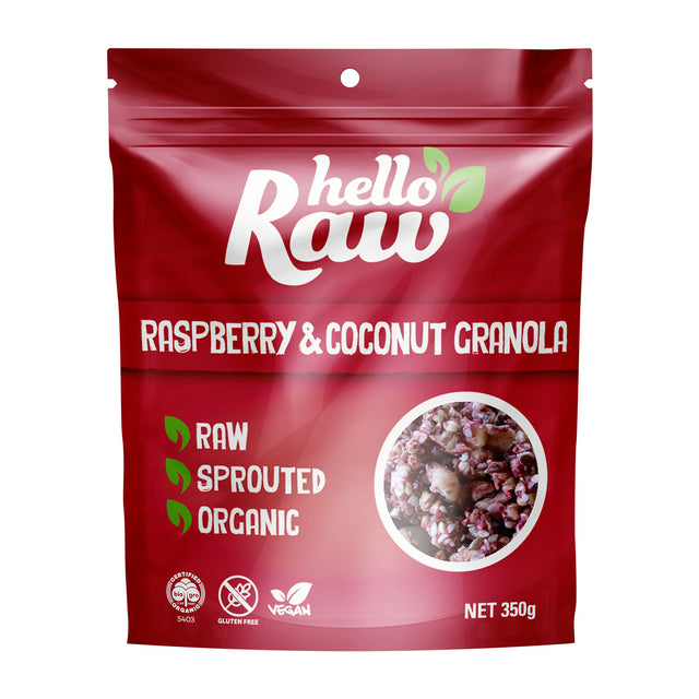 Hello Raw Raspberry & Coconut Granola