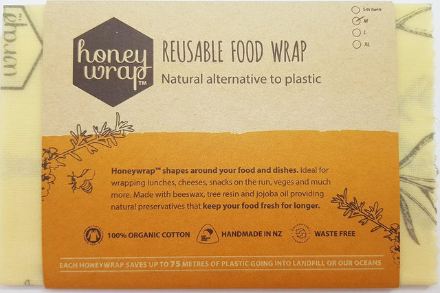 Honey Wrap Beeswax Wrap Medium Single
