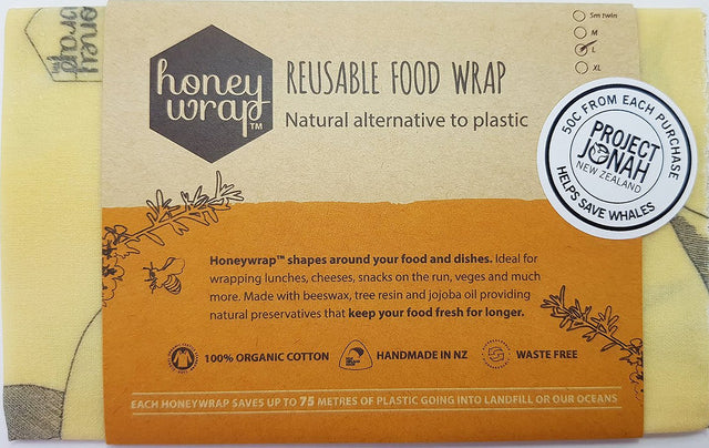 Honey Wrap Beeswax Wrap Large Single