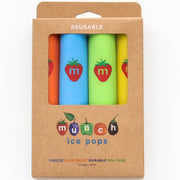 Munch Reusable Ice Pops 4 pack